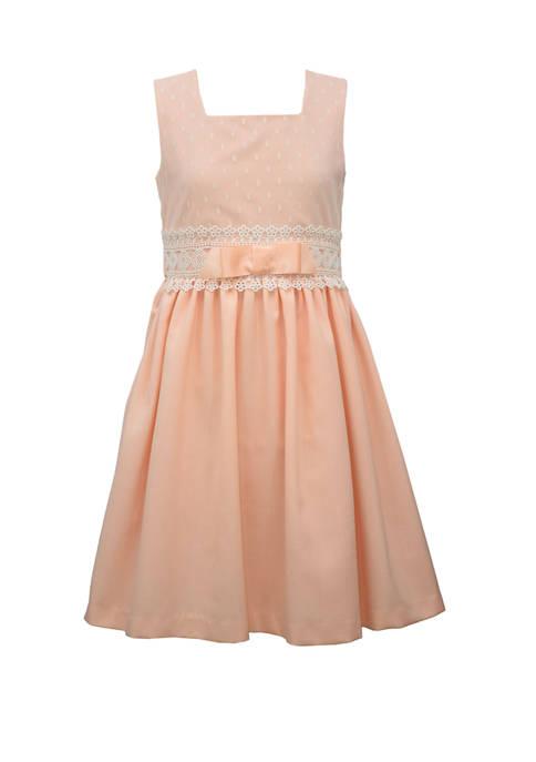 Girls 7-16 Linen Coral Dress