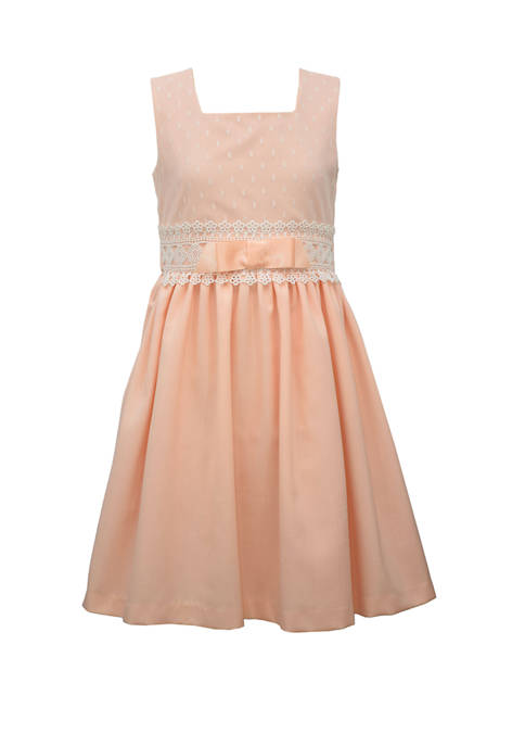 Bonnie Jean Girls 7-16 Linen Coral Dress