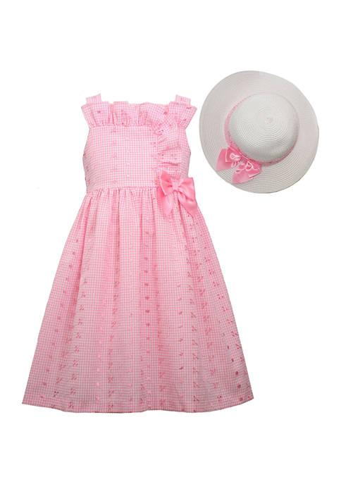Bonnie Jean Girls 7-16 Ruffled Bodice Eyelet Dress