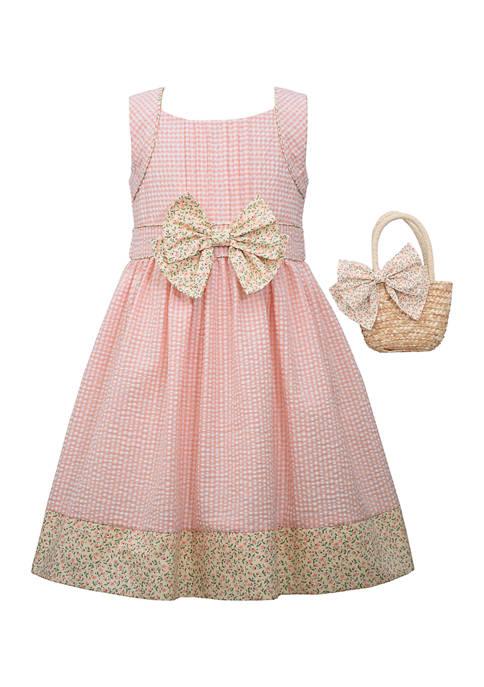 Bonnie Jean Girls 7-16 Seersucker Dress with Ditsy