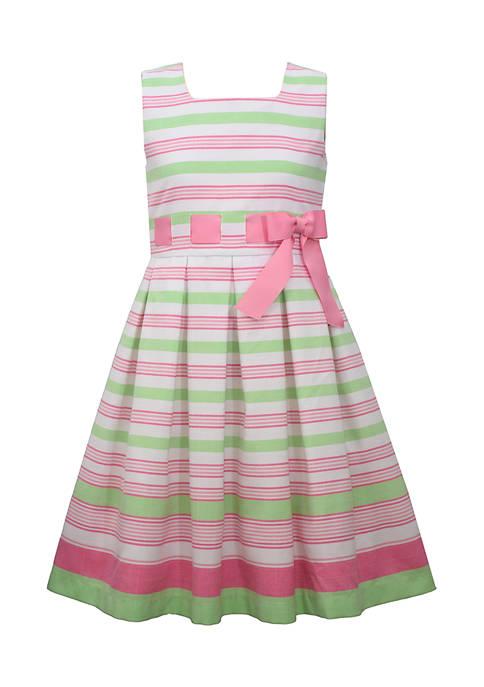 Bonnie Jean Girls 7-16 Linen Stripe Dress