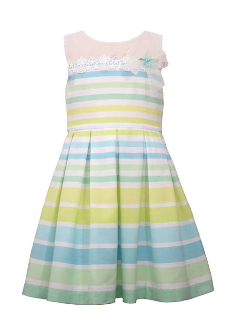 Bonnie Jean Girls 7-16 Illusion Stripe Linen Dress