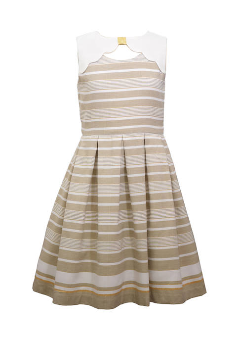Bonnie Jean Girls 7-16 Peekaboo Cutout Linen Dress