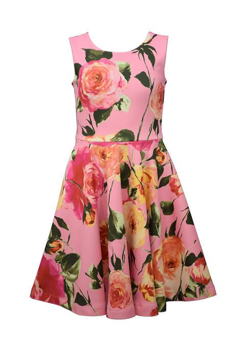 Bonnie Jean Girls 7-16 Floral Scuba Dress