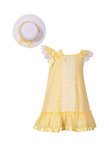 Bonnie Jean Girls 7-16 Yellow Easter Hat and Dress Set