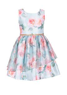 Bonnie Jean Girls 7-16 Mint Floral Dress