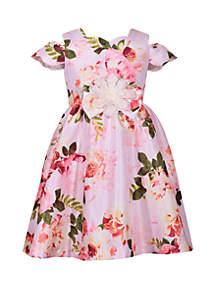 Bonnie Jean Girls 7-16 Cold Shoulder Floral Dress