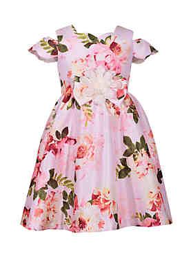 74abd0663c Bonnie Jean Girls 7-16 Cold Shoulder Floral Dress ...