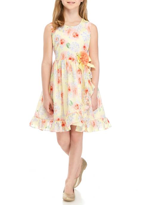 Bonnie Jean Girls 7-16 Pastel Floral Dress