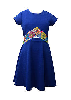 Bonnie Jean Peekaboo Skater Dress Girls 7-16 Plus