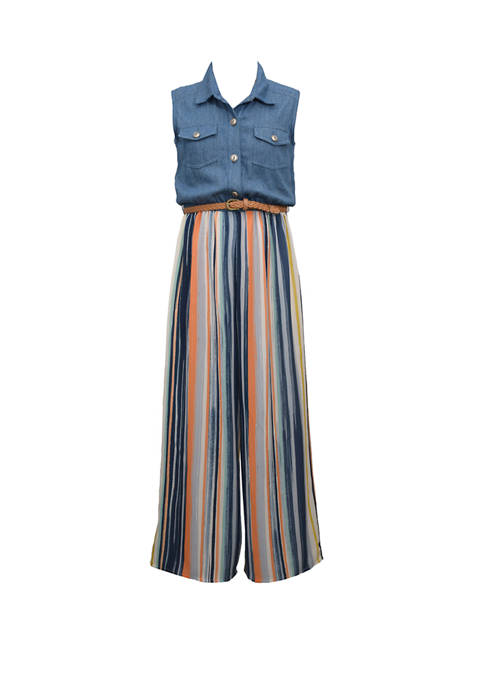 Bonnie Jean Girls 4-6x Sleeveless Denim Wide Leg