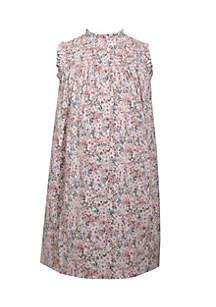 Smocked Neck Floral Dress Girls 4-6x