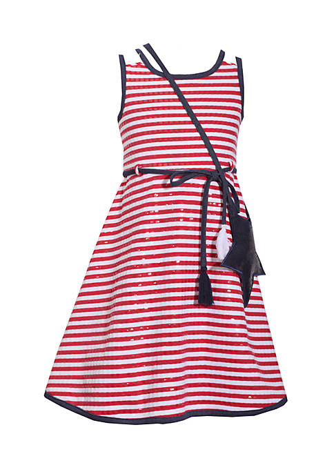 Bonnie Jean Star Spangled Dress Girls 4-6x