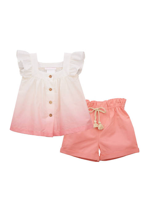 Bonnie Jean Girls 4-6x Ombré Top with Shorts