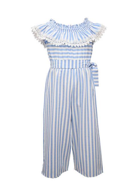 Bonnie Jean Girls 4-6x Striped Jumpsuit