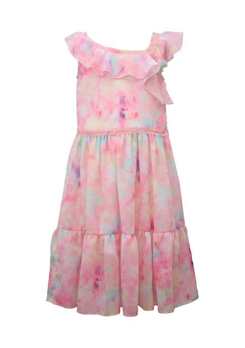 Girls 4-6x Tie Dye Tiered Dress