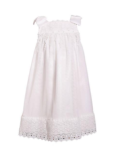 Bonnie Jean Girls 4-6x White Chiffon Float Dress