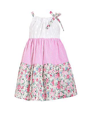8d329f73a82 Bonnie Jean Girls 4-6x Sleeveless Eyelet Sundress with Floral Stripe ...