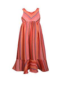 Bonnie Jean Girls 4-6x Textured Woven Flounce Maxi Dress