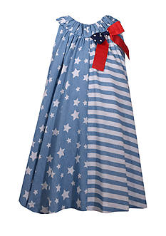 Bonnie Jean Stars and Stripes Chambray Dress Girls 4-6x