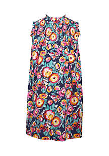 Floral Mock Neck Dress Girls 7-16