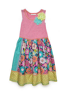 Bonnie Jean Knit Floral Dress Girls 7-16