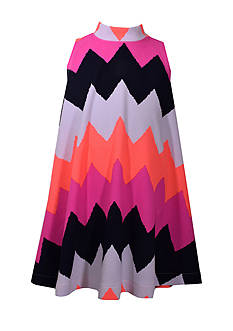 Bonnie Jean Chevron Print Dress Girls 7-16