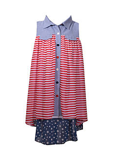 Bonnie Jean American Shirt Dress Girls 7-16 Plus