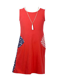 Bonnie Jean American Shift Dress Girls 7-16 Plus
