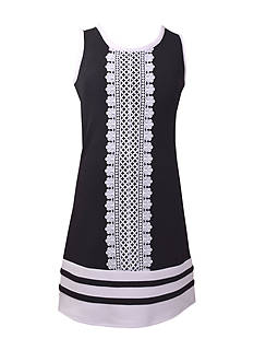 Bonnie Jean Crochet Panel Dress Girls 7-16 Plus