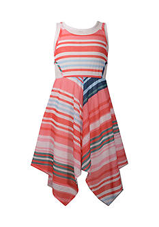 Bonnie Jean Stripe Dress Girls 7-16 Plus