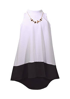 Bonnie Jean Mock Neck Knit Dress Girls 7-16 Plus
