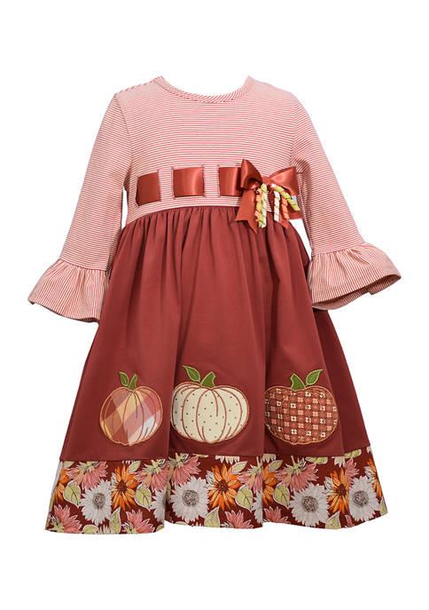 Bonnie Jean Girls 4-6x Harvest Ribbon Dress