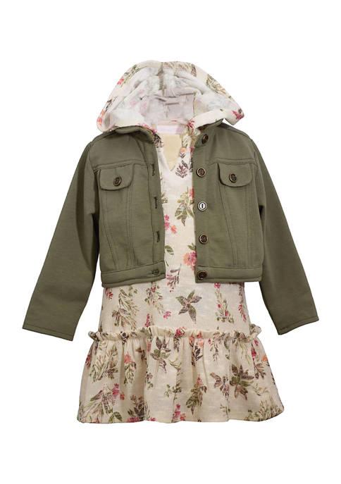 Bonnie Jean Girls 4-6x 2Fer Hoodie Dress with