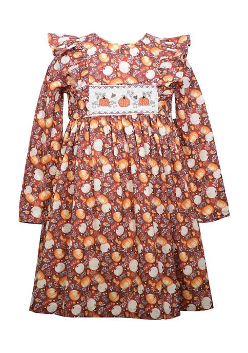 Bonnie Jean Girls 4-6x Pumpkin Harvest Dress