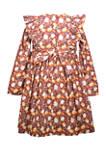 Girls 4-6x Pumpkin Harvest Dress