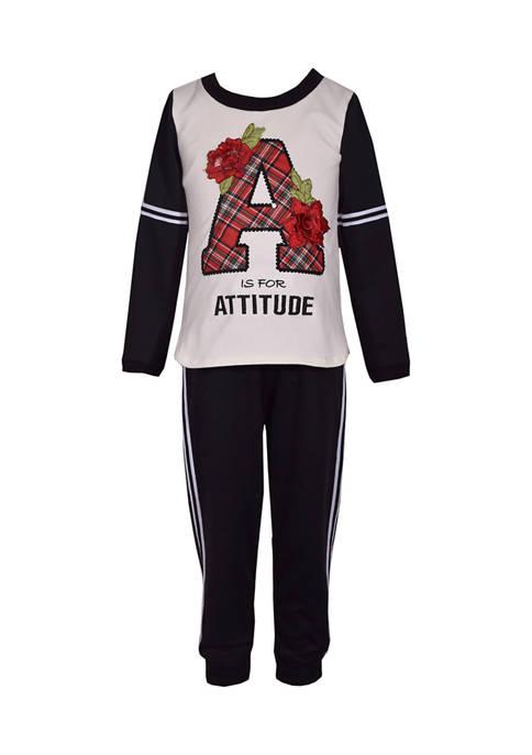 Bonnie Jean Girls 4-6x Attitude Pant Set