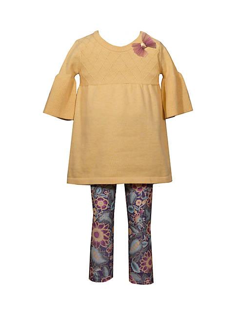 Bonnie Jean Girls 4-6x Long Sleeve Swing Sweater
