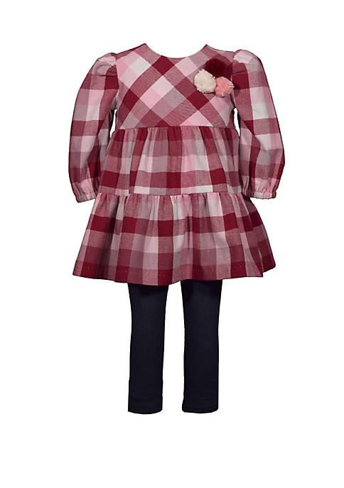 Bonnie Jean Girls 4-6x Long Sleeve Flannel Buffalo