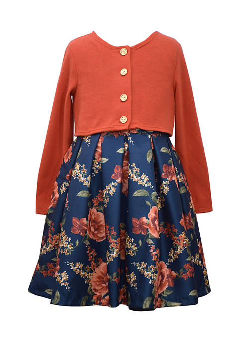 Bonnie Jean Girl 7-16 Coral Floral Dress