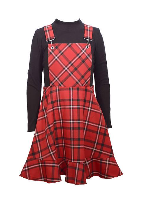 Bonnie Jean Girls 7-16 Plaid Jumper Dress with