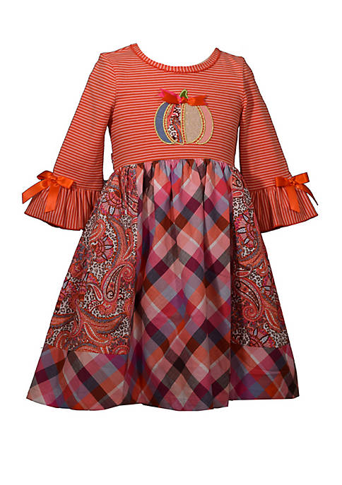 Bonnie Jean Girls 7-16 Pumpkin Knit Skater Dress