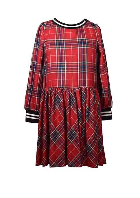Bonnie Jean Girls 7-16 Plaid Dropwaist Dress with