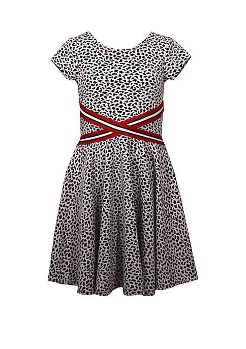 Bonnie Jean Girls 7-16 Short Sleeve Cheetah Double