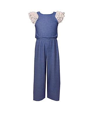 Bonnie Jean Girls Jumpsuit Cold Shoulder 7-16