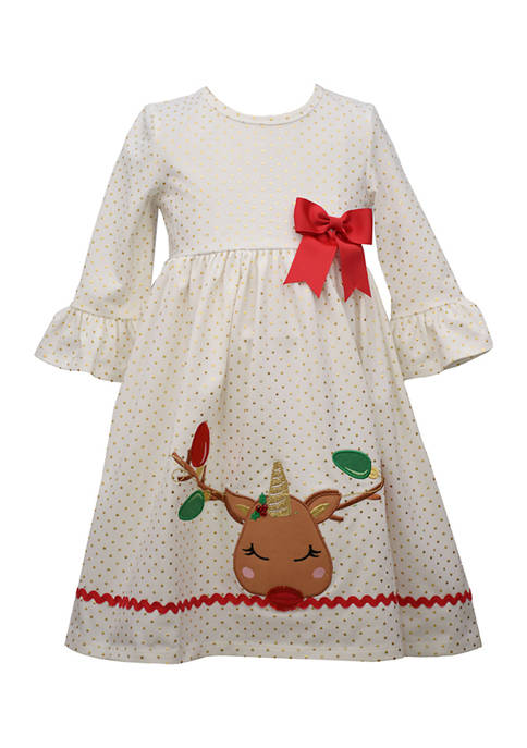 Bonnie Jean Girls 4-6x Deer-icorn Dress