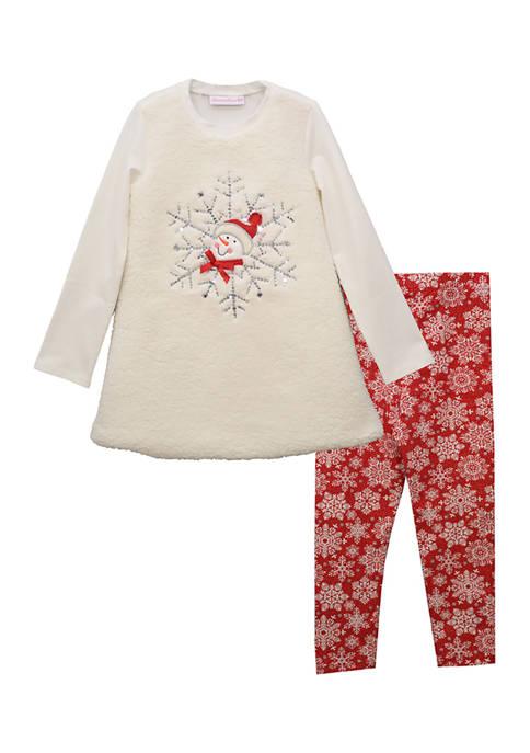 Bonnie Jean Girls 4-6x Snowflake Legging Set