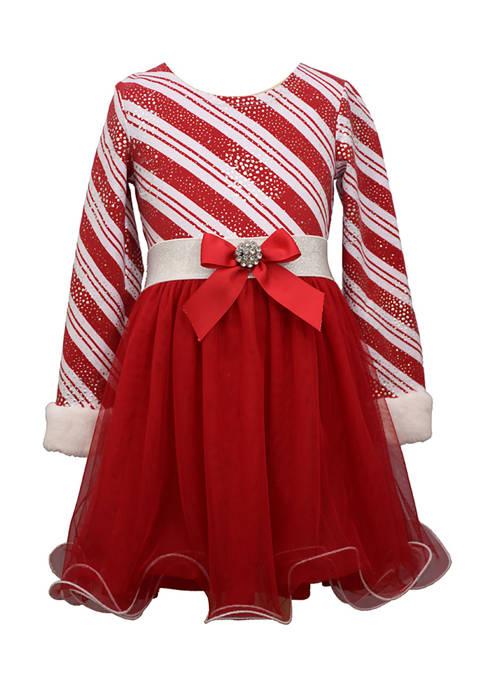 Bonnie Jean Girls 4-6x Candy Cane Stripe Dress