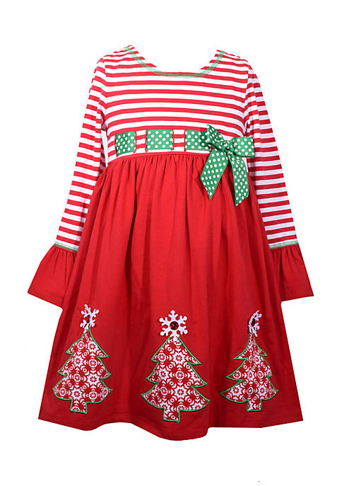 Bonnie Jean Christmas Tree Dress Girls 4 6x Belk