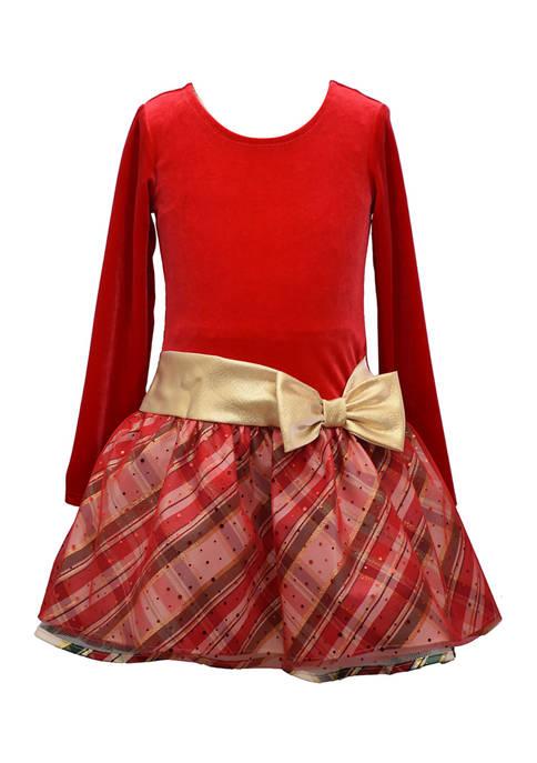 Bonnie Jean Girls 4-6x Drop Waist Tutu Dress